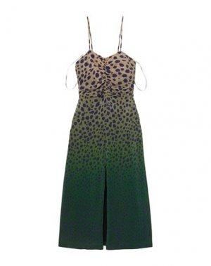Платье длиной 3/4 HOUSE OF HOLLAND. Цвет: зеленый-милитари