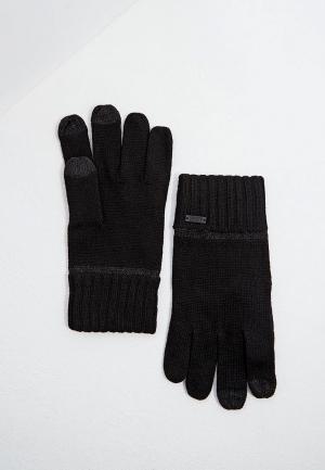 Перчатки Boss. Цвет: черный
