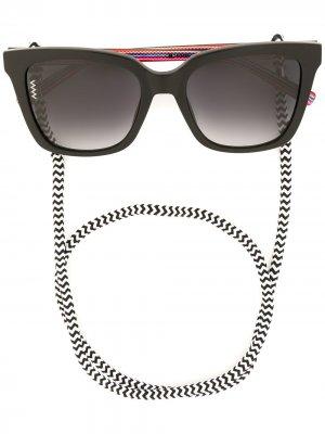 Солнцезащитные очки на шнурке M Missoni. Цвет: черный