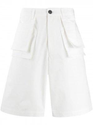 Расклешенные шорты чинос Frankie Morello. Цвет: белый
