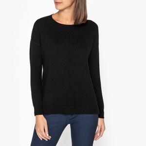 Пуловер кашемировый с круглым вырезом LA BRAND BOUTIQUE COLLECTION. Цвет: черный