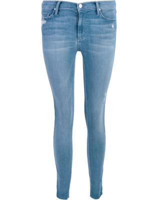 Зауженные джинсы Black Orchid Denim. Цвет: синий