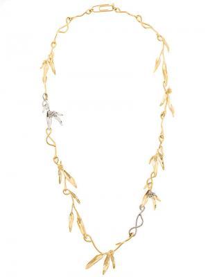Mimosa sautoir necklace Aurelie Bidermann. Цвет: золотистый