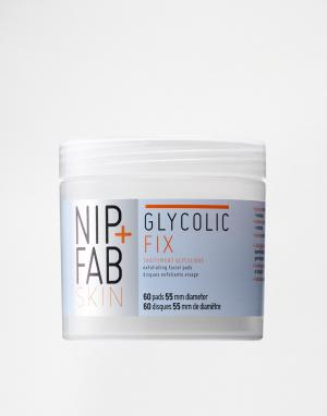Очищающие ватные диски с гликолевой кислотой NIP+FAB Glycolic Fix-Бесцветный