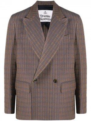 Двубортный пиджак свободного кроя Vivienne Westwood. Цвет: синий