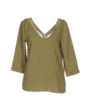 Блузка AXARA PARIS. Цвет: зеленый-милитари