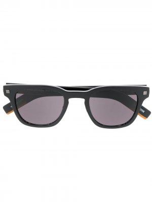 Солнцезащитные очки в квадратной оправе Ermenegildo Zegna. Цвет: черный