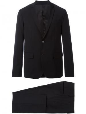 Костюм с заостренными лацканами на пиджаке Paolo Pecora. Цвет: чёрный