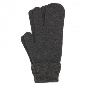 Перчатки из смеси шерсти и кашемира Maison Margiela. Цвет: серый