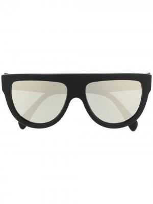 Солнцезащитные очки в массивной оправе Celine Eyewear. Цвет: черный