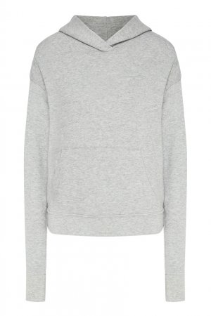 Серое меланжевое худи James Perse. Цвет: серый