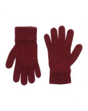 Перчатки DSQUARED2. Цвет: красно-коричневый