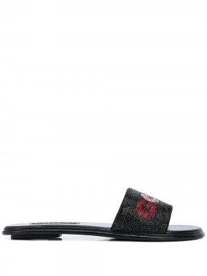 Декорированные сандалии Good Vibes Alice+Olivia. Цвет: черный