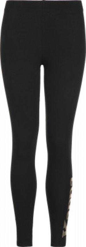 Легинсы для девочек , размер 140 Kappa. Цвет: черный