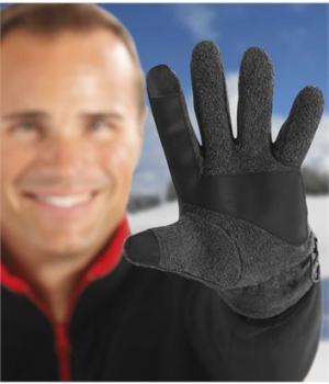 Перчатки из Флиса Atlas For Men. Цвет: темно-серый