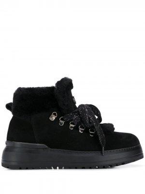 Ботинки на платформе и шнуровке Baldinini. Цвет: черный