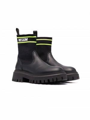 Ботинки-носки MSGM Kids. Цвет: черный