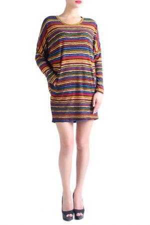 Туника-платье EVA Milano. Цвет: красный