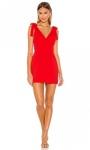 Платье allora Amanda Uprichard. Цвет: красный