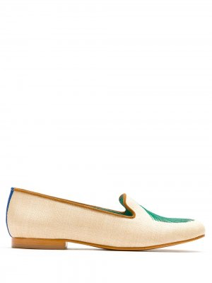 Palmeira Leque straw loafers Blue Bird Shoes. Цвет: нейтральные цвета