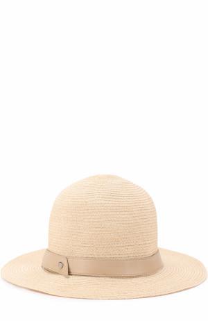 Шляпа с лентой Inverni. Цвет: светло-бежевый