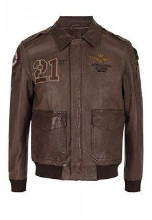 Куртка AERONAUTICA MILITARE. Цвет: коричневый