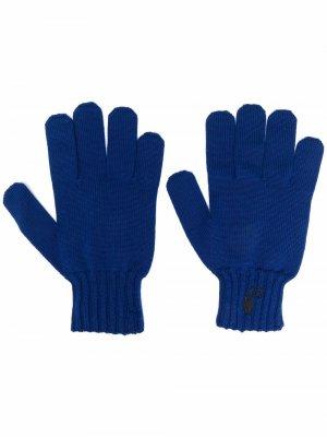 Перчатки с логотипом Hands Off Off-White. Цвет: синий