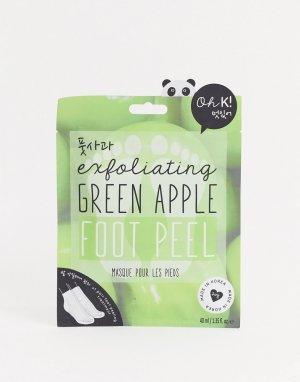 Маска для стоп с отшелушивающим эффектом и ароматом зеленого яблока -Бесцветный Oh K!