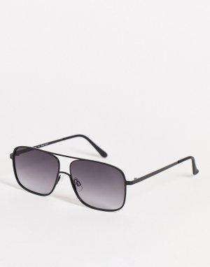 Черные солнцезащитные очки-авиаторы в стиле унисекс -Черный цвет AJ Morgan