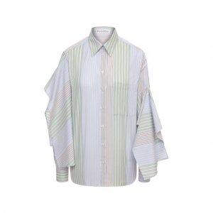 Хлопковая рубашка JW Anderson. Цвет: синий