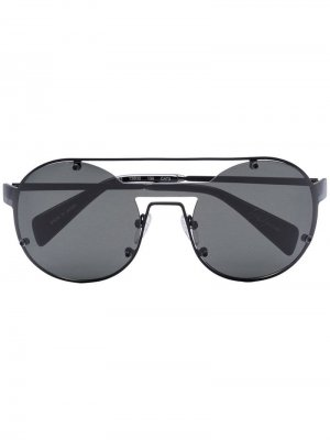 Солнцезащитные очки YY7026 Yohji Yamamoto. Цвет: черный