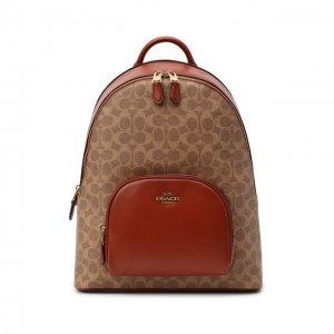Рюкзак Carrie Coach. Цвет: коричневый