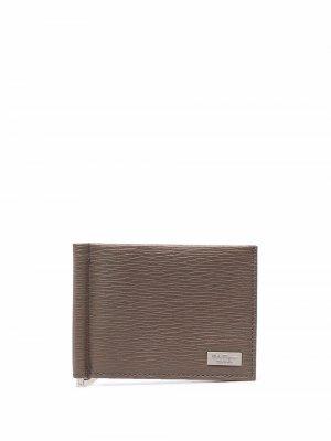 Кожаный бумажник Salvatore Ferragamo. Цвет: нейтральные цвета