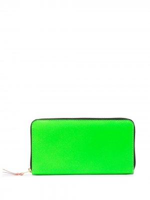 Кошелек Super Fluo с круговой молнией Comme Des Garçons Wallet. Цвет: зеленый