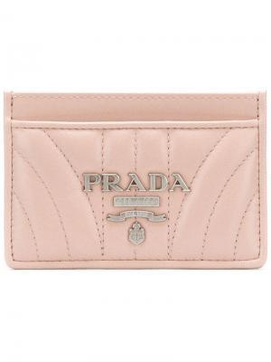 Футляр для кредитных карт Prada. Цвет: розовый