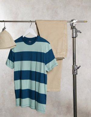 Полосатая футболка sharky-Синий J Crew