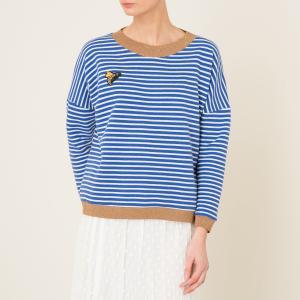 Пуловер RICCIOLONA MOMONI. Цвет: синий/ белый
