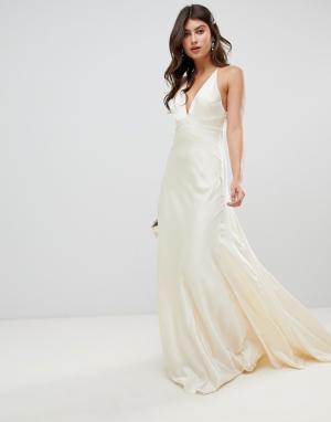 Свадебное платье со шлейфом -Белый ASOS EDITION