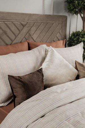 Постельное Белье 1,5Сп 160х219 Arya home collection. Цвет: светло-коричневый