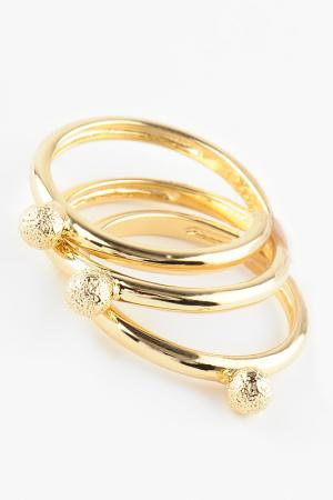 Кольцо размерное Slava Zaitsev. Цвет: золото, матовое золото