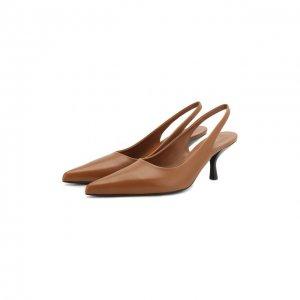 Кожаные туфли Bourgeoise The Row. Цвет: коричневый