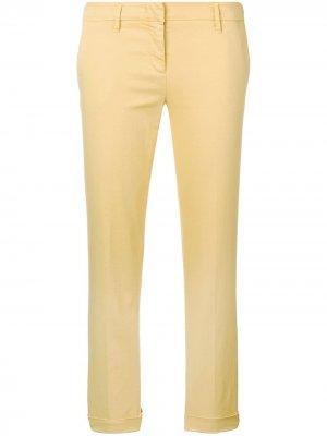 Укороченные брюки чинос кроя слим Aspesi. Цвет: желтый