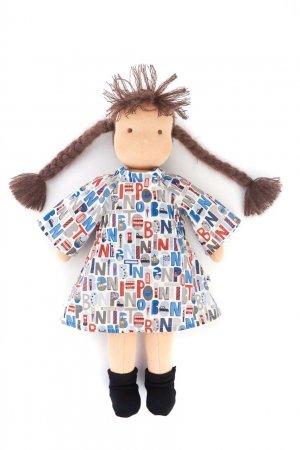 Голубой комплект для куклы из платья, трусов и носков Bonpoint. Цвет: голубой