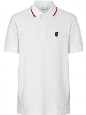 Рубашка-поло с полосками Icon Stripe Burberry. Цвет: белый