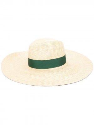 Шляпа с лентой Borsalino. Цвет: нейтральные цвета