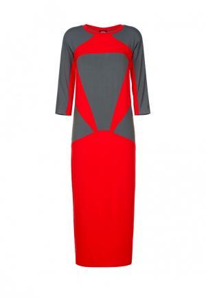 Платье Mayamoda. Цвет: красный