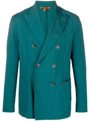 Двубортный пиджак Barena. Цвет: зеленый