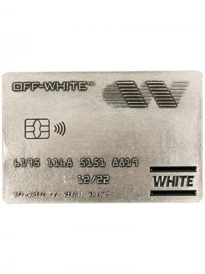 Визитница в форме карты Off-White. Цвет: металлик