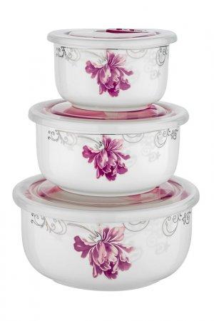 Набор контейнеров Guffman. Цвет: белый, розовый