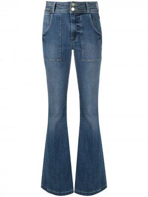 Расклешенные джинсы с завышенной талией FRAME. Цвет: синий